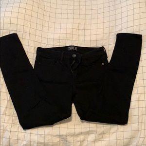 Abercrombie Harper ankle black jeans